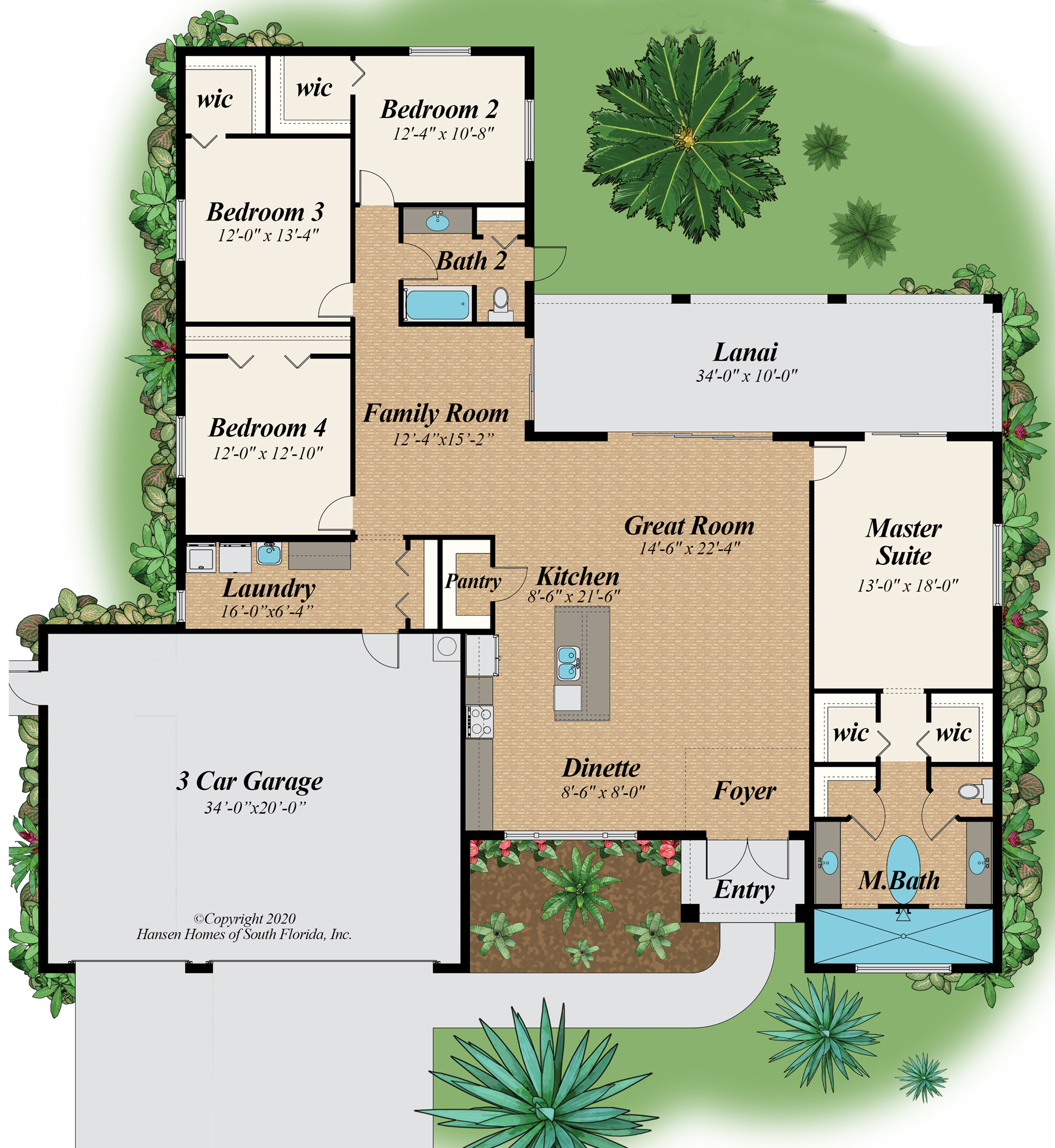 The Oasis 3 Car Garage Home Plan Floor Plans